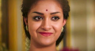 Keerthy Suresh in Saree With Cute Smile in Mahanati