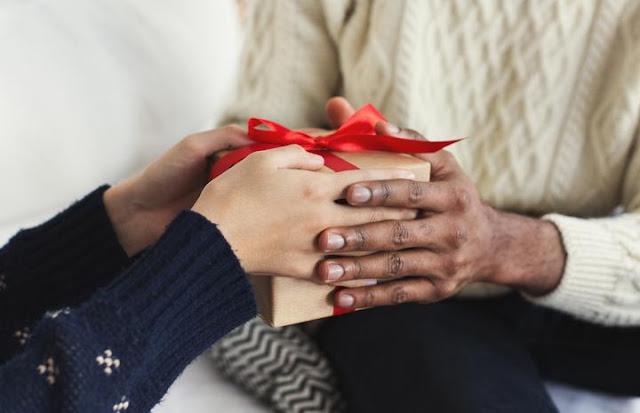 Charity donation at Christmas