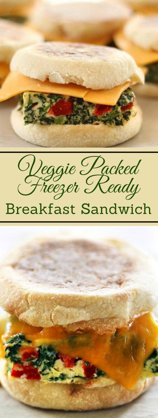VEGGIE PACKED FREEZER READY BREAKFAST SANDWICHES #vegan #vegetarian #sandwich #breakfast #salad