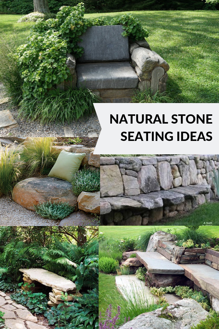 natural stone seating ideas