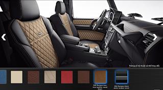 Nội thất Mercedes G500 2019 màu Đen / Nâu Sand ZK6