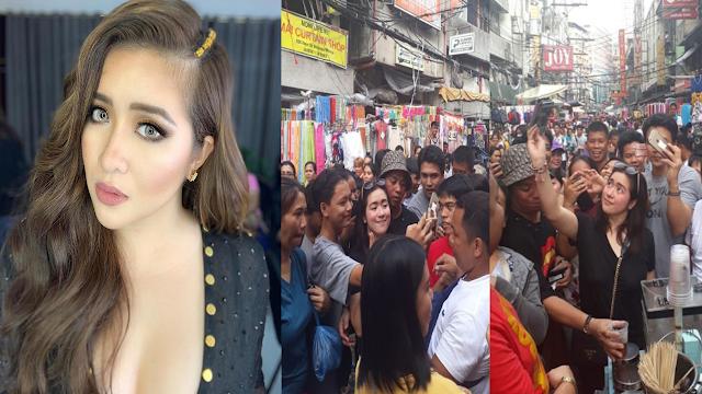 Simpleng Angeline Quinto, Dinumog ng mga Tao sa Divisoria habang Namimili at Kumakain ng Fishballs!