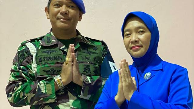 Kimal Lampung Letkol laut (PM) M.Firdaus, SH, MH Beserta Ibu Ellia Firdaus. Mengucapkan Selamat Menyambut Hari Raya Idul Fitri 1442 H