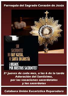 11-III-21, Adoración por las vocaciones sacerdotales y los sacerdotes.