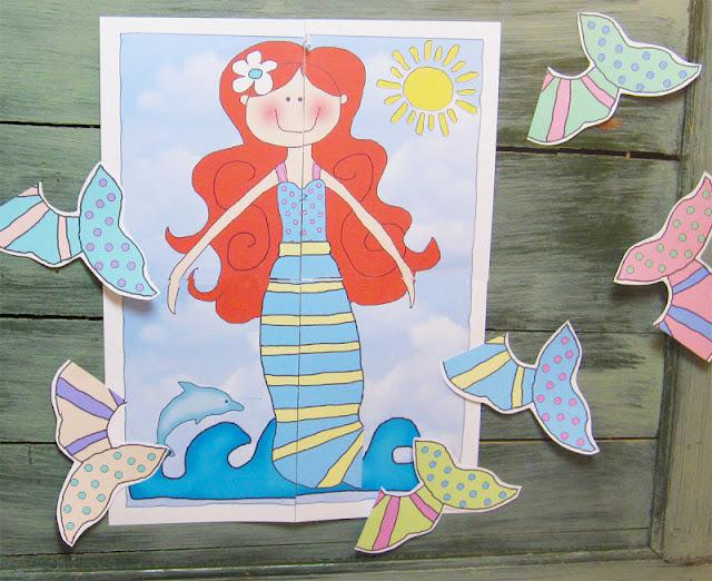 Parties and Patterns: Mermaid Printable Game \