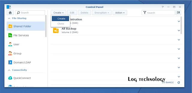 "Synology NAS - cara membuat ""shared folder"""