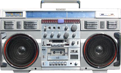 FREE CUT-OUTS: RETRO BOOMBOX