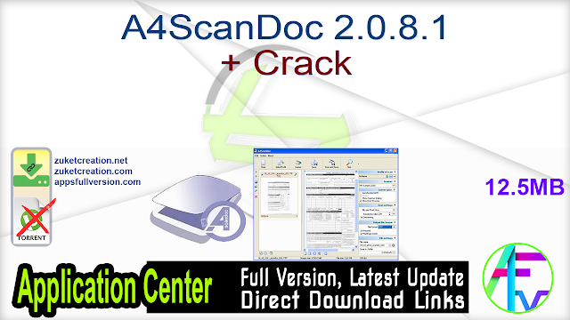 A4ScanDoc 2.0.8.1 + Crack