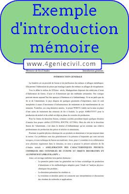 Exemples d'introduction de mémoires