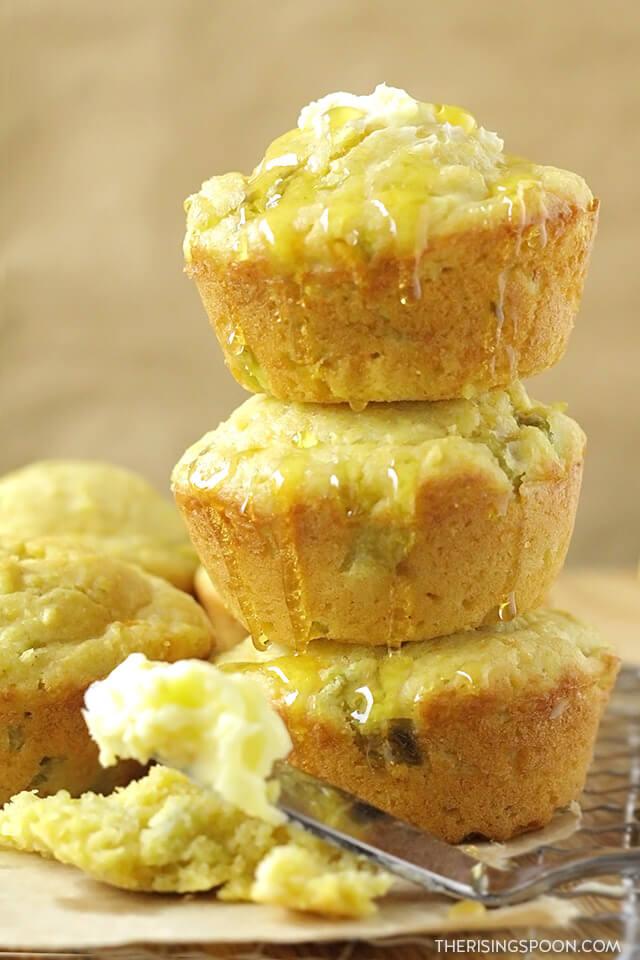 Honey Cornbread Muffins Recipe (Moist, Tender & Slightly Sweet)