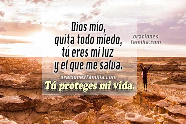 Oración corta de la mañana, Salmo 27, oración con imágenes para este día,  frases con oraciones, frases de los salmos por Mery Bracho.