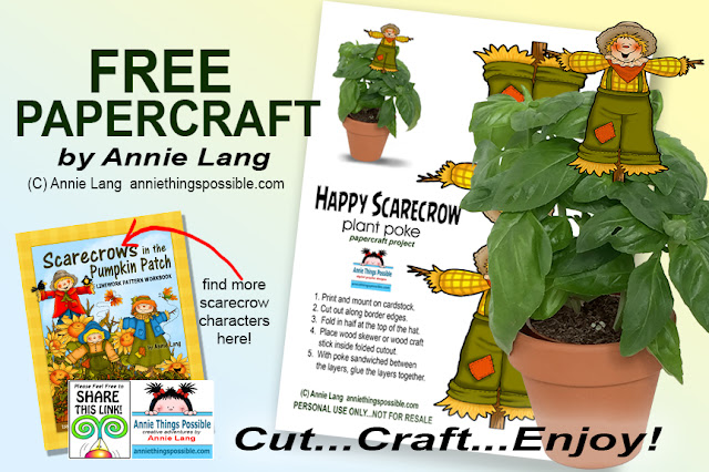 Everyone can download Annie Lang's FREEBIE craft project right now at Annie Things Possible!
