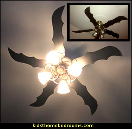 Batwing ceiling fan blades   batman bedrooms - batman bedroom decorating ideas -  batman furniture - batman murals - batman wall decals - batman bedding - batmobile bed - Batman room decor - batman pajamas -  batcave DC Comics Batman -  batman comics themed bedrooms -  Batman vs Superman Bedrooms - Superhero bedroom ideas -