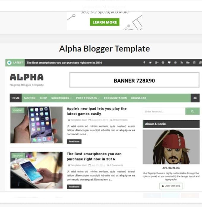 Alpha Blogger Template Responsive Theme