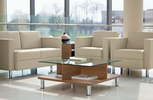 easy to clean leather waiting room furniture