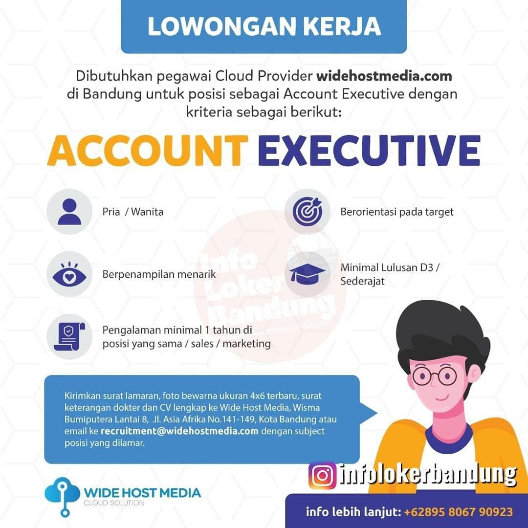 Lowongan Kerja Account Executive Web Host Media Bandung Februari 2020