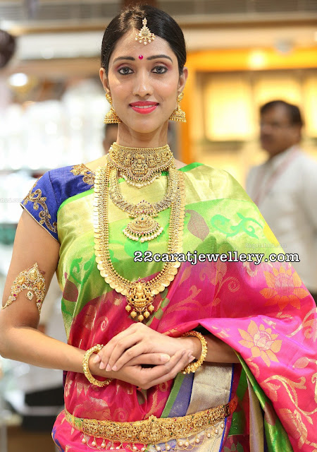 Models in Chandana Brothers jewellery