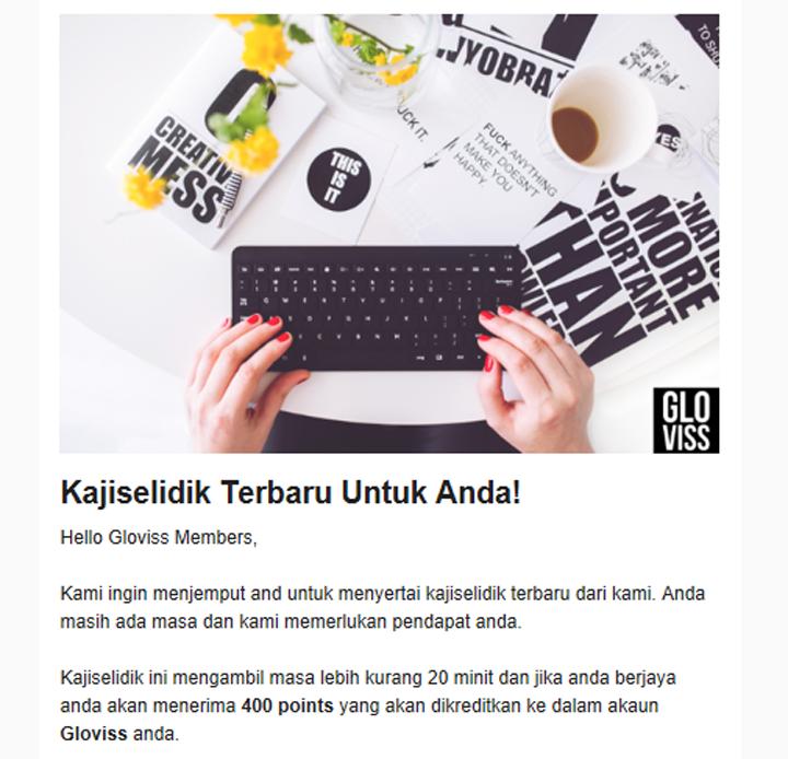 Jana Pendapatan Secara Online Jawab Kaji Selidik Gloviss