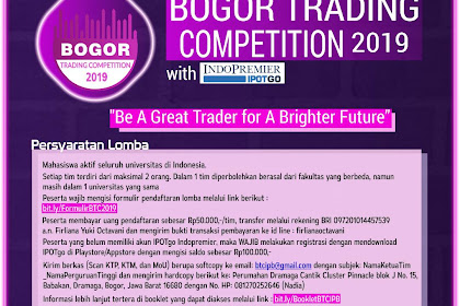 Lomba Simulasi Perdagangan Saham Bogor Trading 2019 Mahasiswa