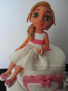 bolo comunhão menina