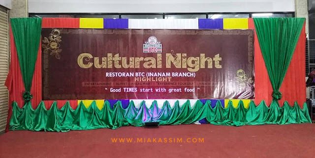 CULTURAL NIGHT & FOOD FIESTA AT BTC RESTAURANT INANAM!