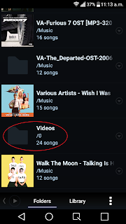 Video files detected as songs in Poweramp Folders