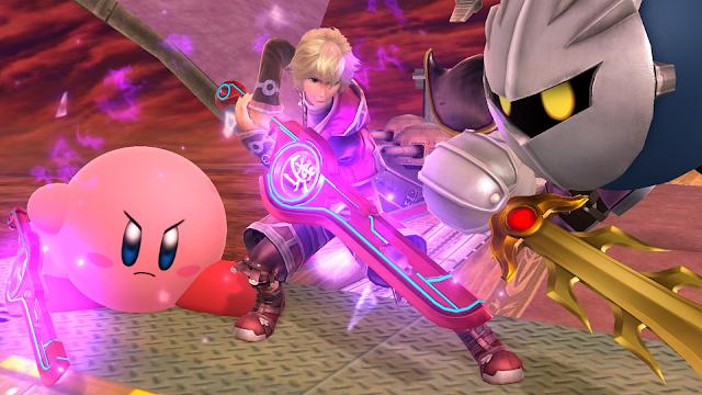 Super Smash Bros. Ultimate Monado Kirby Shulk Meta Knight blades swords