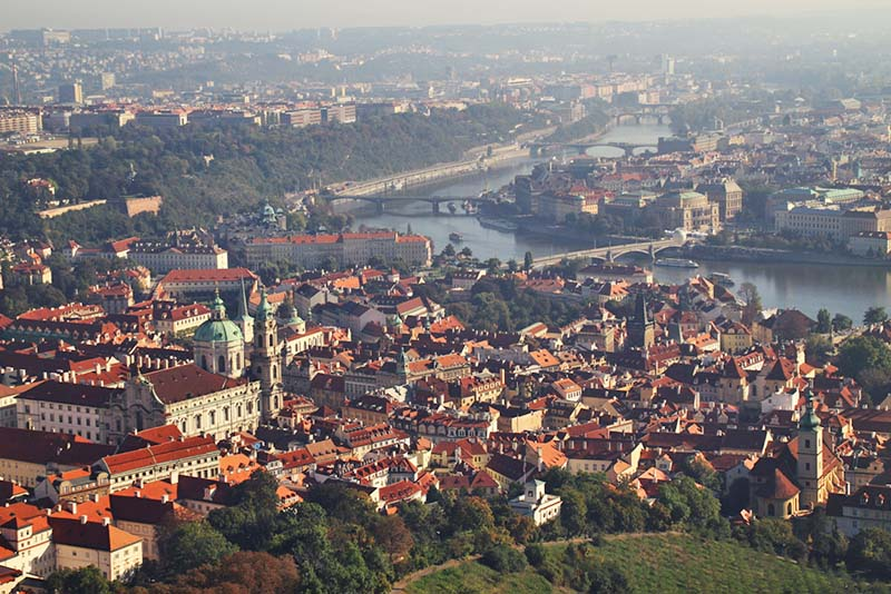 Roofs and the Vltava river