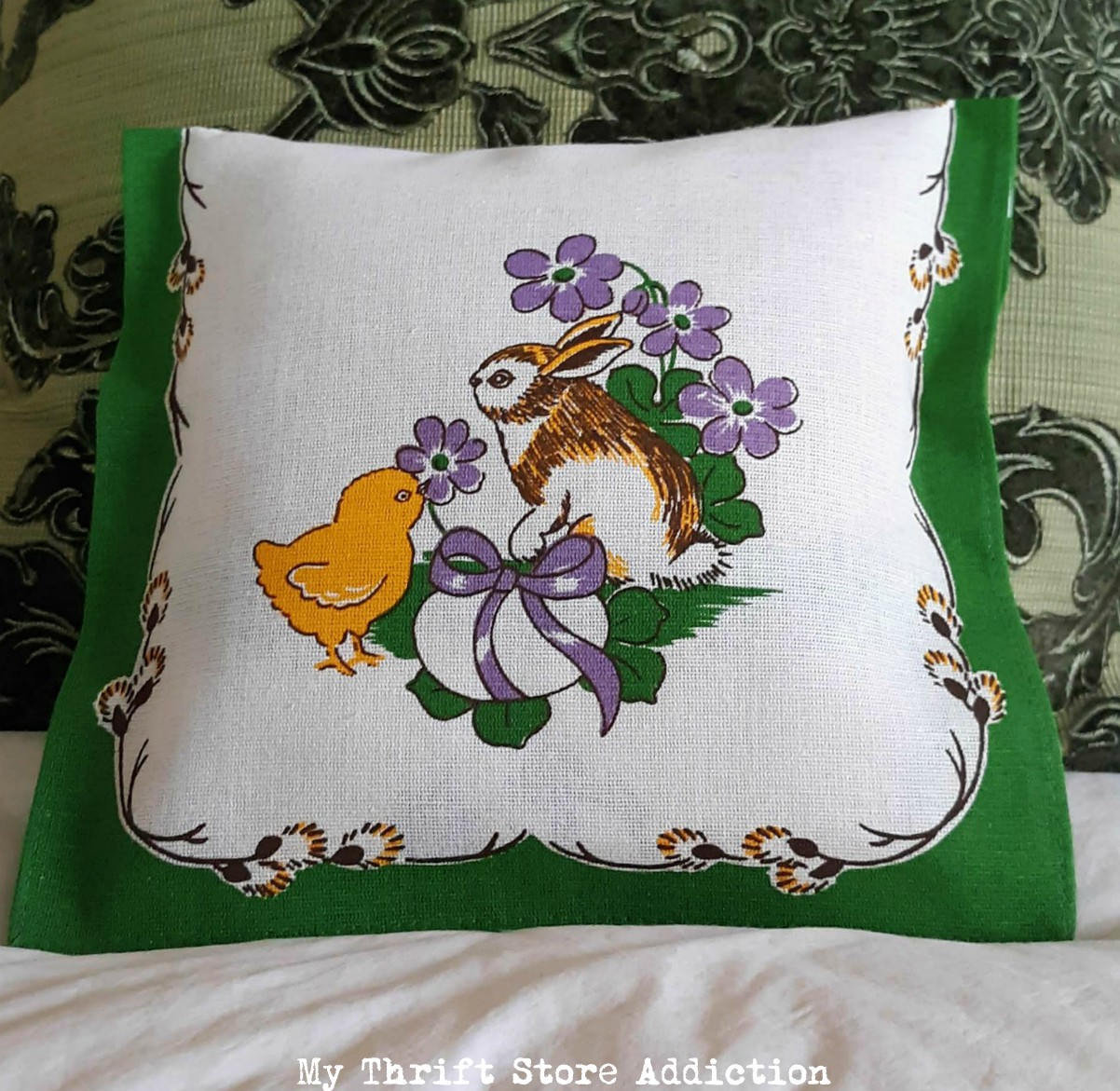 vintage Easter pillow