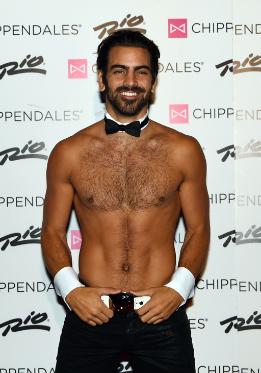 Nyle DiMarco on the red carpet for his opening night with the Chippendales at the Rio Hotel and Casino in Las Vegas
