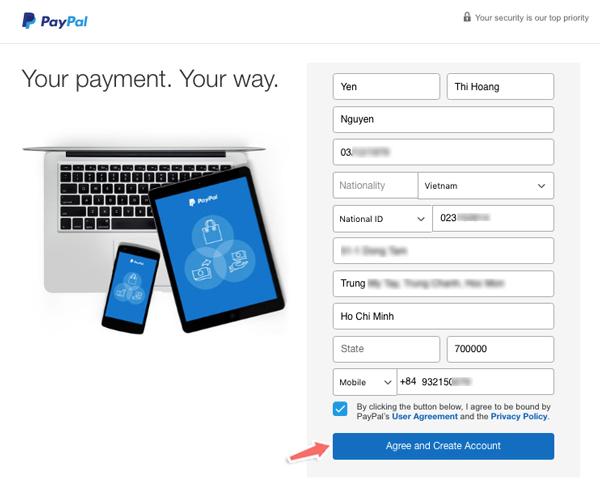 Cách đăng ký và sử dụng Paypal cơ bản để nhận thanh toán quốc tế