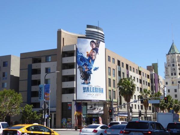 Valerian movie billboard