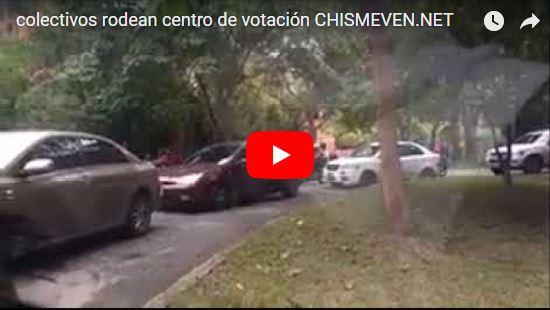 Colectivos chavistas rodean el centro Conopoima en El Hatillo