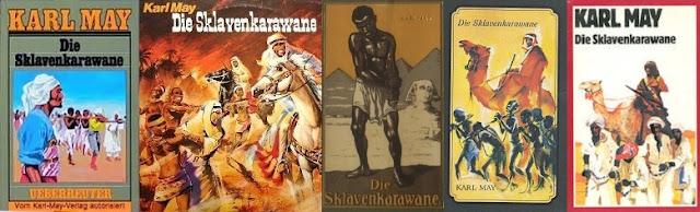 May Károly A rabszolgakaraván könyvborítók