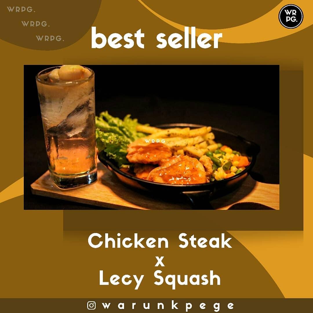 Katalog Digital Warunk Pege Wonosobo Chicken Steak + Lecy Squash