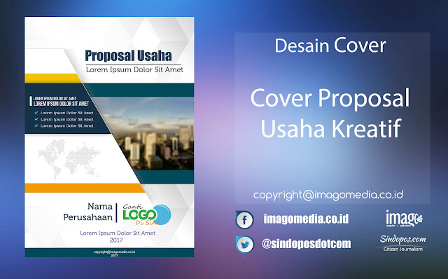Download Template Desain Cover Proposal Usaha Kreatif