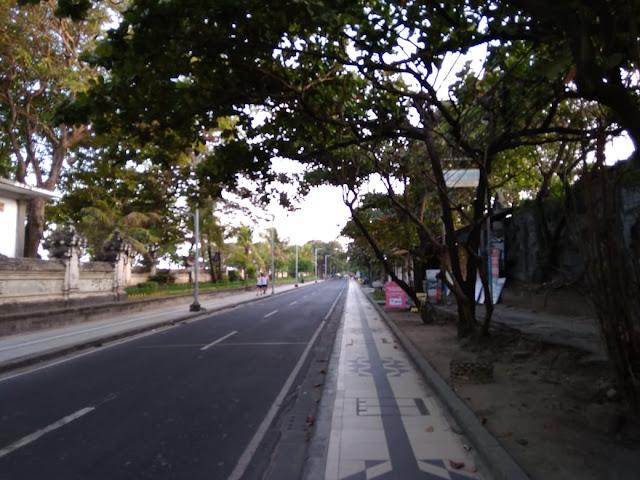 Jogging Track in Kuta Beach