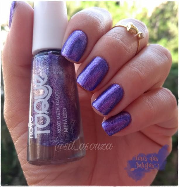 Esmalte Nailpolish Roxo Metalizado Novo Toque Ulta Violet Pantone
