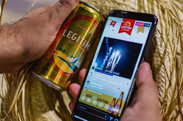 Cerveja Legítima iluminou o céu cearense na noite deste domingo em homenagem ao São João
