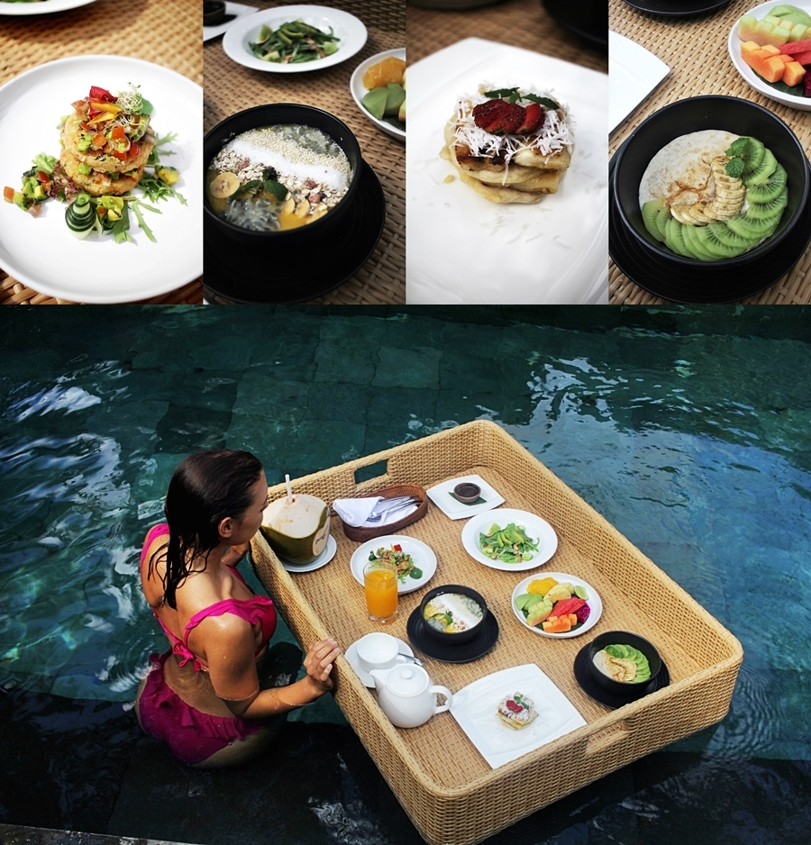 floating breakfast brunch luxury hotel travel