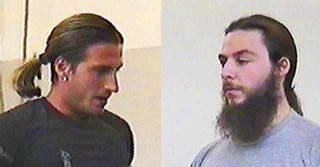 Frost e Manuel Majoli nel primo allenamento di wrestling ICW nel 2000