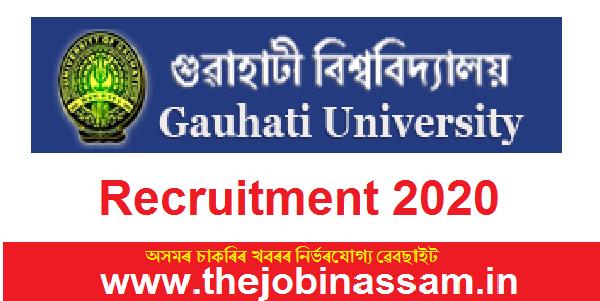 Gauhati University Recruitment 2020: 02 Research Assistant Posts