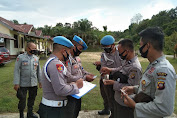 Propam Polres Landak Lakukan Giat Gaktibplin Ke Polsek Kuala Behe