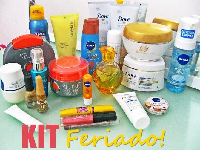Produtinhos para os cabelos, maquiagens e perfumes