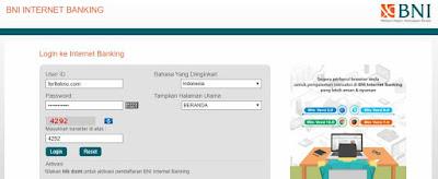 beli token listrik via internet banking bni