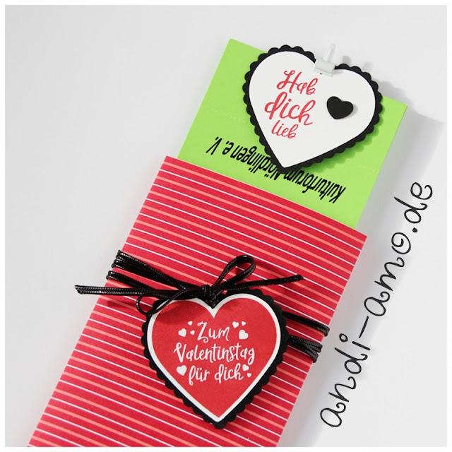Verpackung für Eintrittskarten DIY Zum Valentinstag