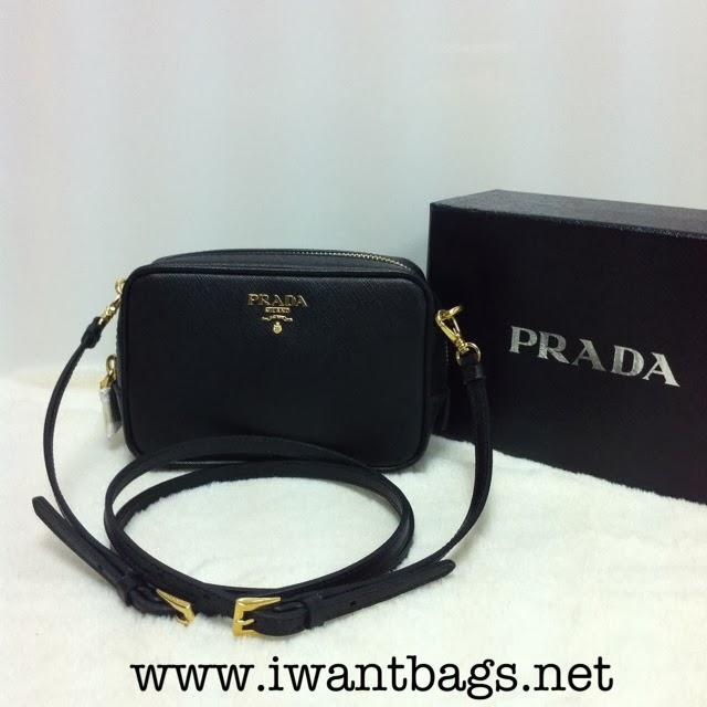 4a1ea4fddb6db1 I Want Bags backup: Prada 1N1674 Saffiano Leather Small Shoulder Bag ...