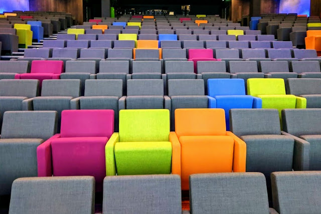 Theatre seats at the Foundry at the Google Office in Dublin Ireland