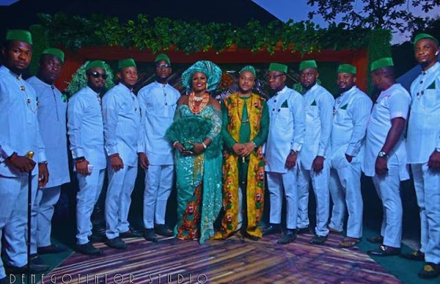 Check out the Igbo traditional wedding attire from Chizzy Alichi's Igba Nkwu