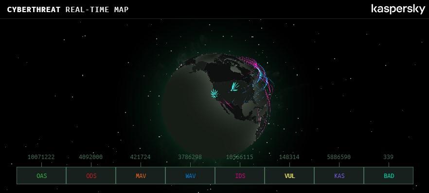Widget Real Time Peta Serangan Cyber Dunia